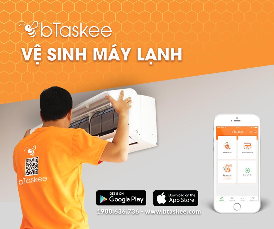 Các bước vệ sinh máy lạnh của bTaskee