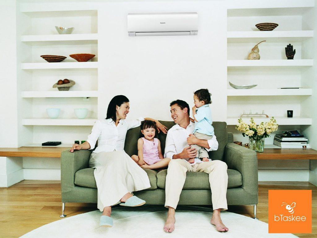 Gia đình thoải, vui vẻ hơn khi cóbTaskee giúp đỡ việc nhà