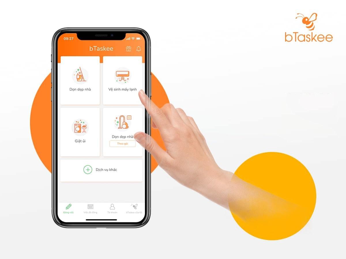 ứng dụng bTaskee