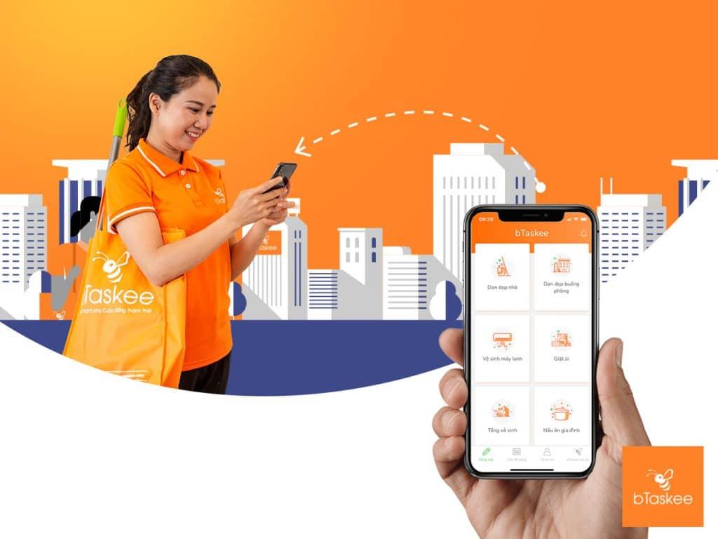 các dịch vụ giúp việc nhà theo giờ trên ứng dụng bTaskee