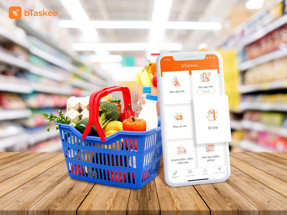 Dịch vụ đi chợ online trên ứng dụng bTaskee