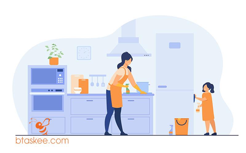 7 cách làm sạch tường nhà bếp