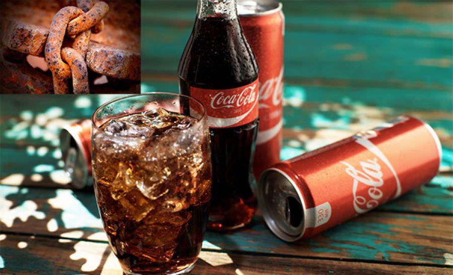nước ngọt cocacola có thể tẩy vết rỉ sét