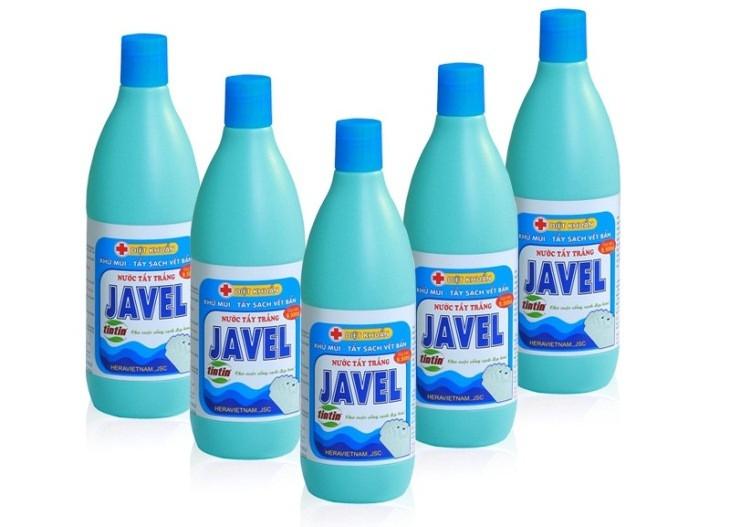 5 chai thuốc tẩy hiệu javel