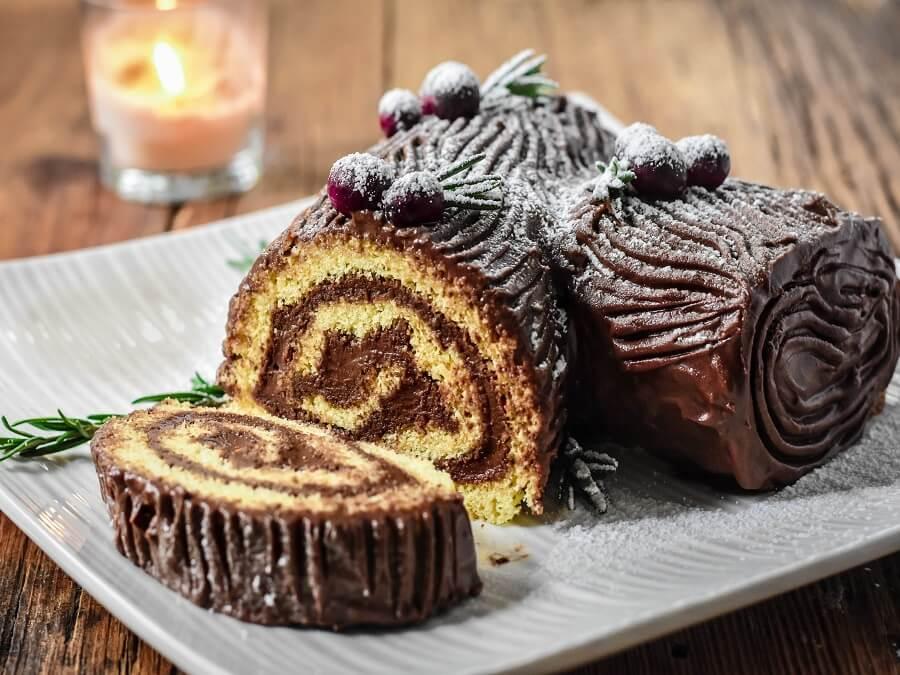 bánh khúc cây giáng sinh