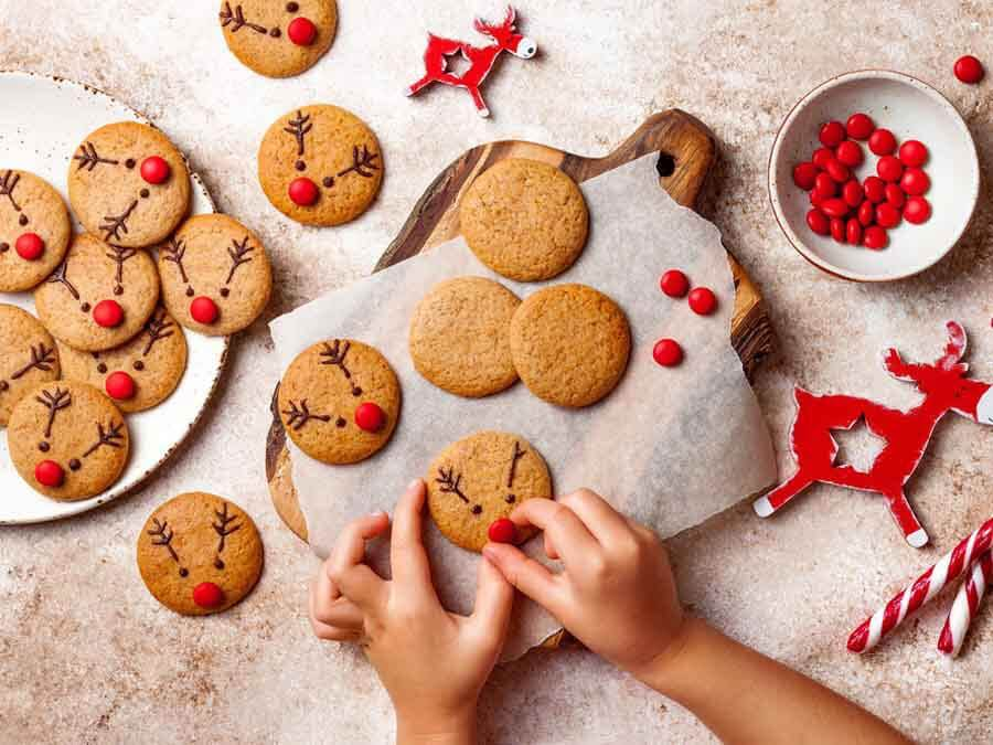 bánh cookie tuần lộc