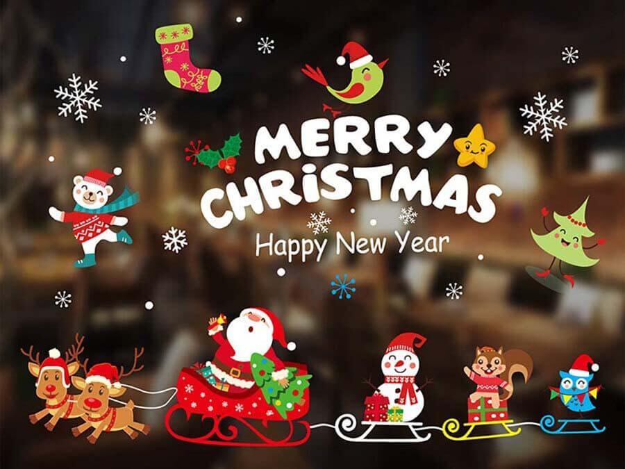 trang trí chữ merry christmas
