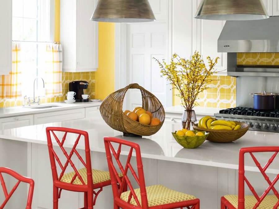 trang trí nhà ngay Tết ở nhà bếp