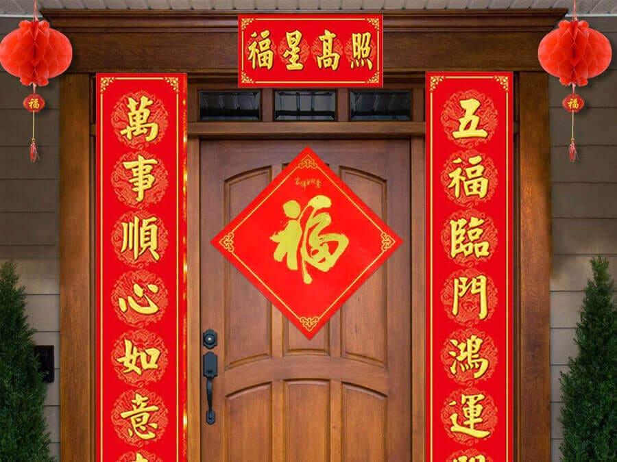 trang trí cửa gỗ