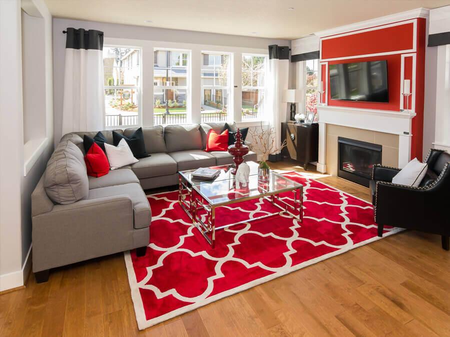 Trang trí Tết bằng thảm