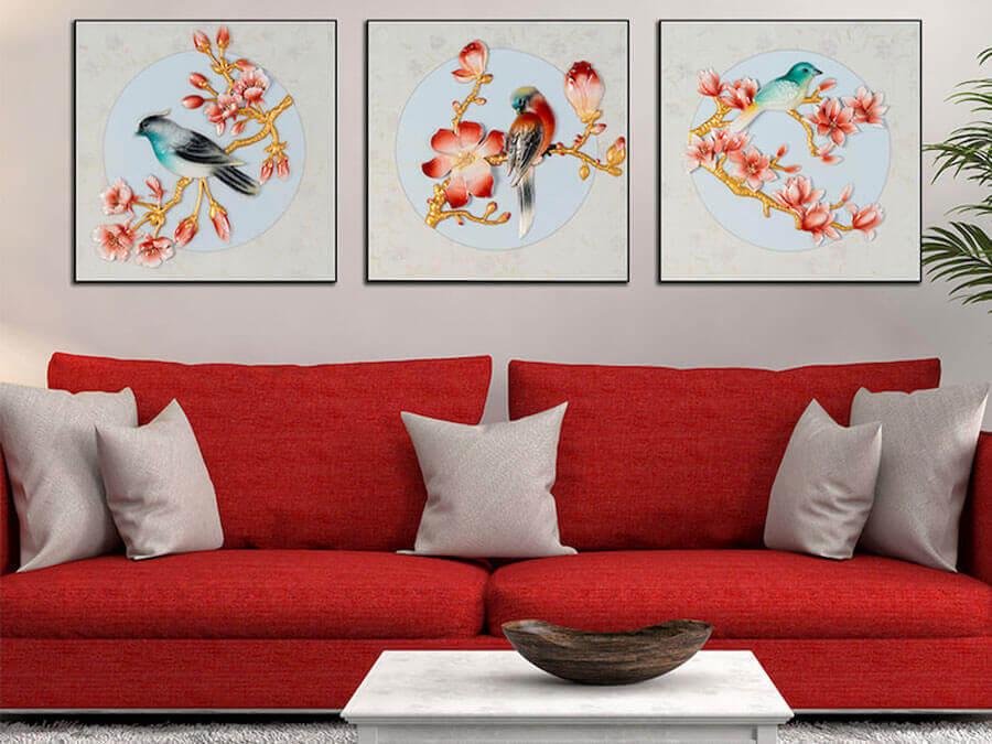 tranh trang trí tường phòng khách