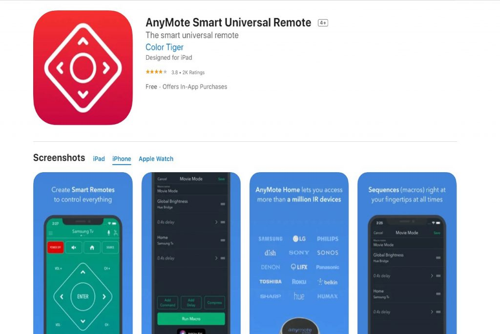 AnyMote Smart Universal Remote