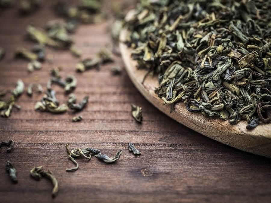 bã trà xanh