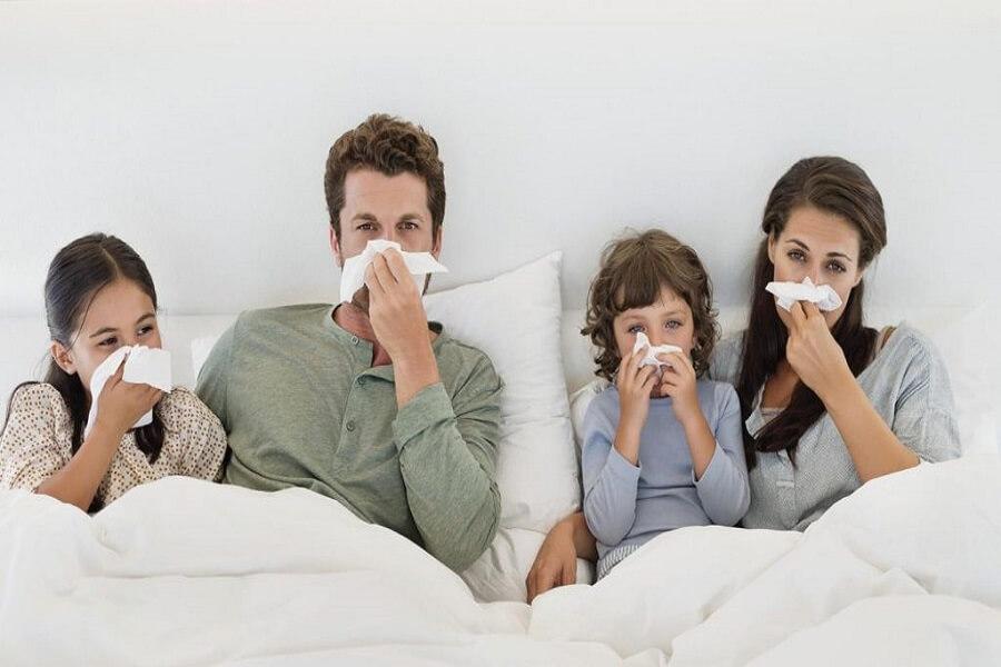 cả nhà bị ốm