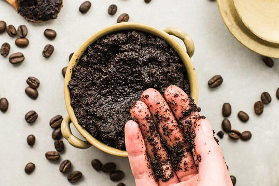 bã và hạt cà phê