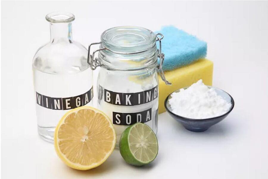 chanh giấm và baking soda