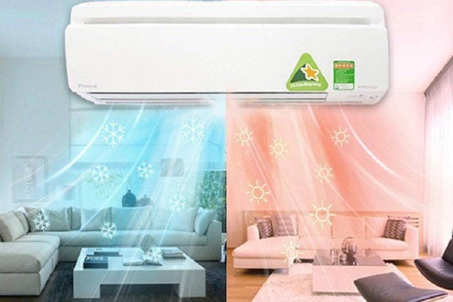 chọn sai chế độ làm máy lạnh không mát