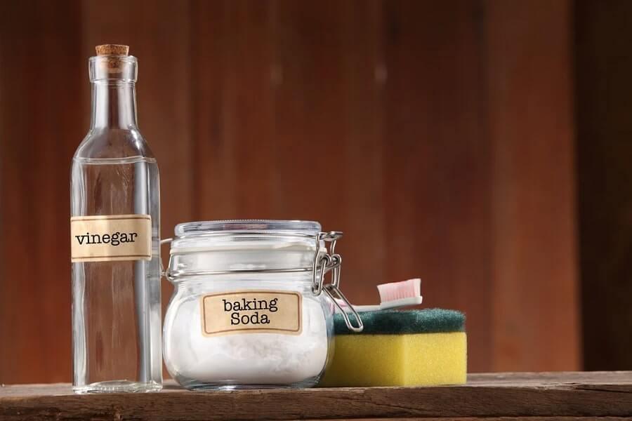 giấm baking soda dùng làm sạch nhà tắm