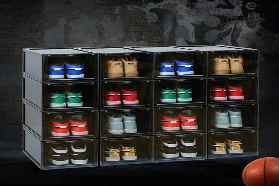 hộp đựng giày giúp nhà cửa gọn gàng