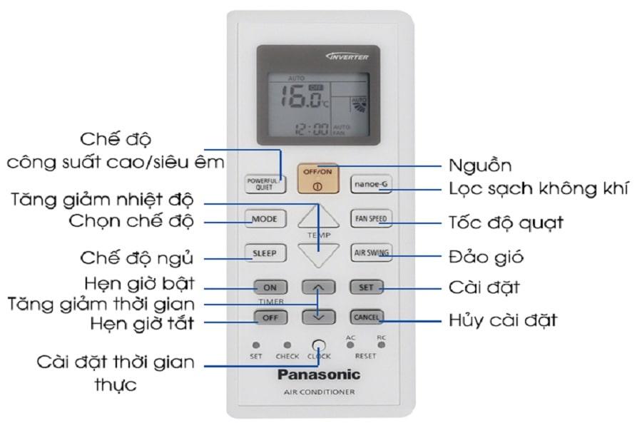 hủy hẹn giờ máy lạnh Panasonic