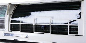 máy lạnh bị đóng tuyết