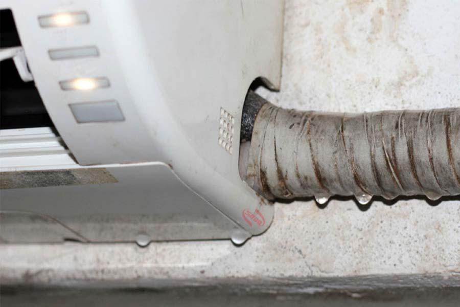 máy lạnh hết ga chảy nước