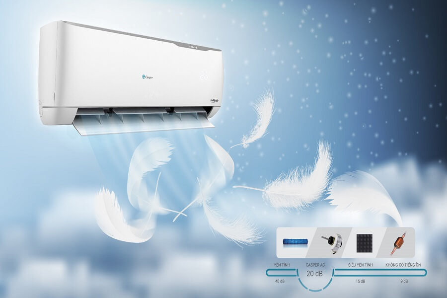 máy lạnh inverter hoạt động êm ái