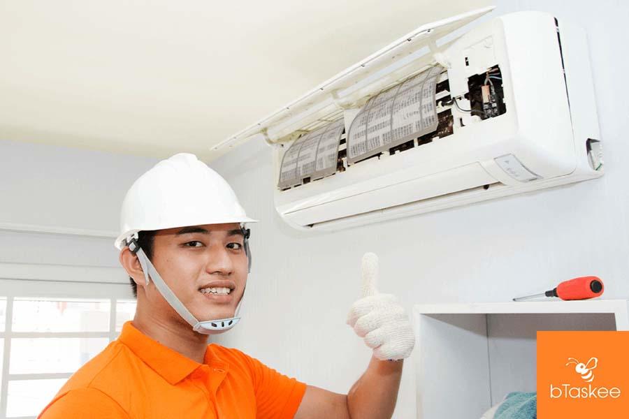 dịch vụ vệ sinh máy lạnh btaskee