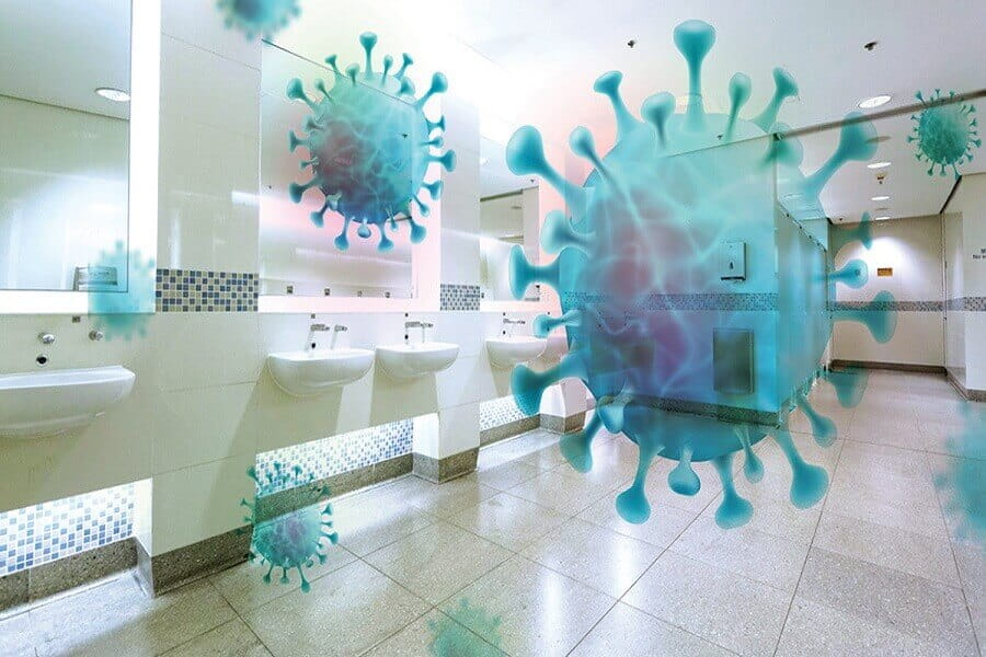 vi khuẩn trong nhà vệ sinh