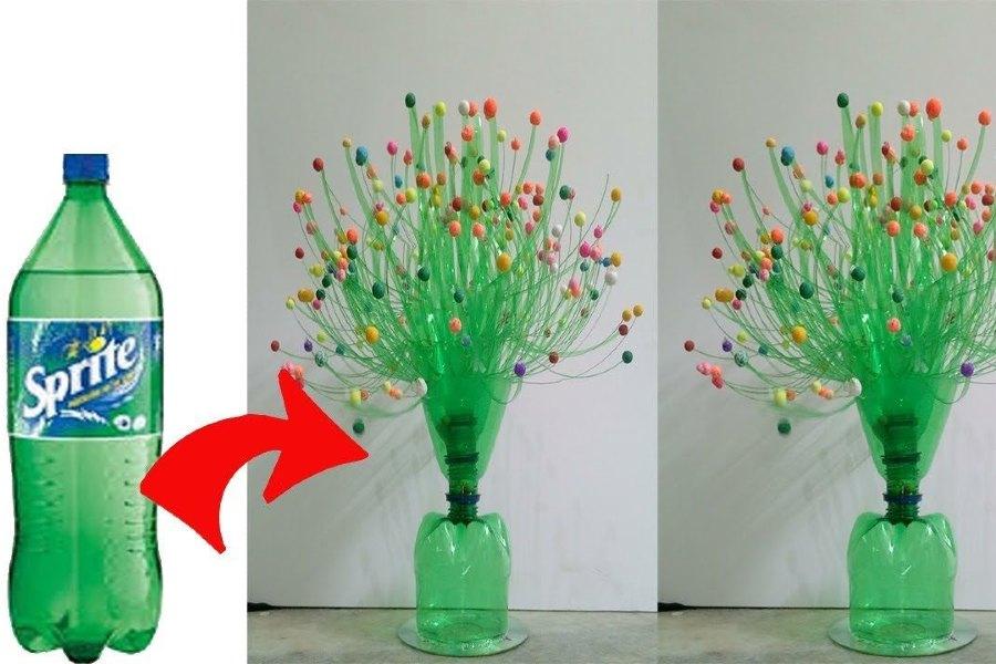 Bình hoa chai nhựa