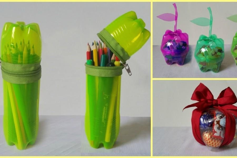 Chai nhựa bằng hộp bút