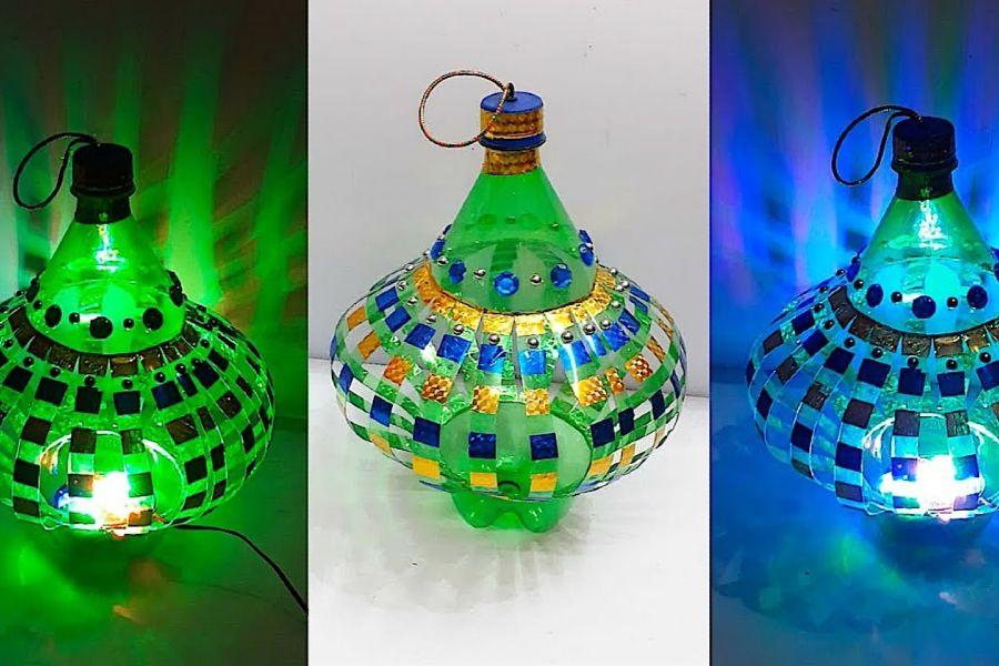 Lồng đèn được làm từ chai nhựa
