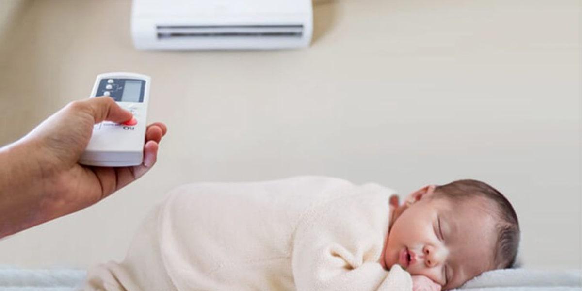 nhiệt độ máy lạnh cho trẻ sơ sinh