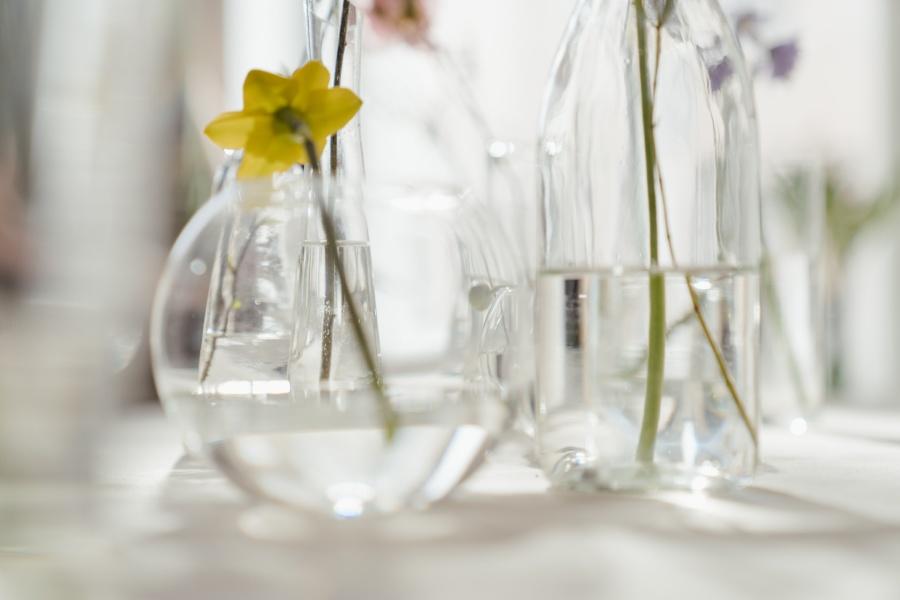 nước sạch trong bình hoa