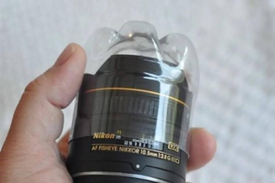 Ống kính có thể đươc bảo vệ bằng chai nhựa tái chế