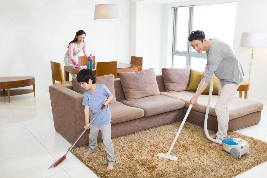 vệ sinh nhà cửa thường xuyên