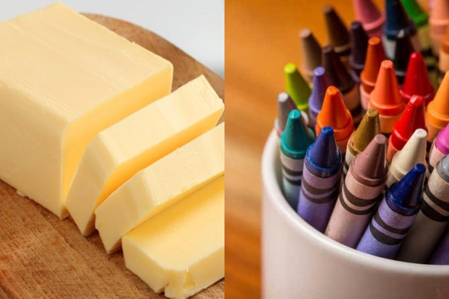 bơ và sáp màu