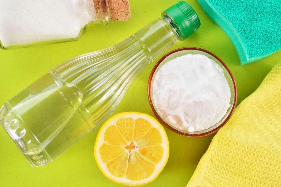 chanh và giấm là nguyên liệu giúp khuwrw mùi bình nhựa