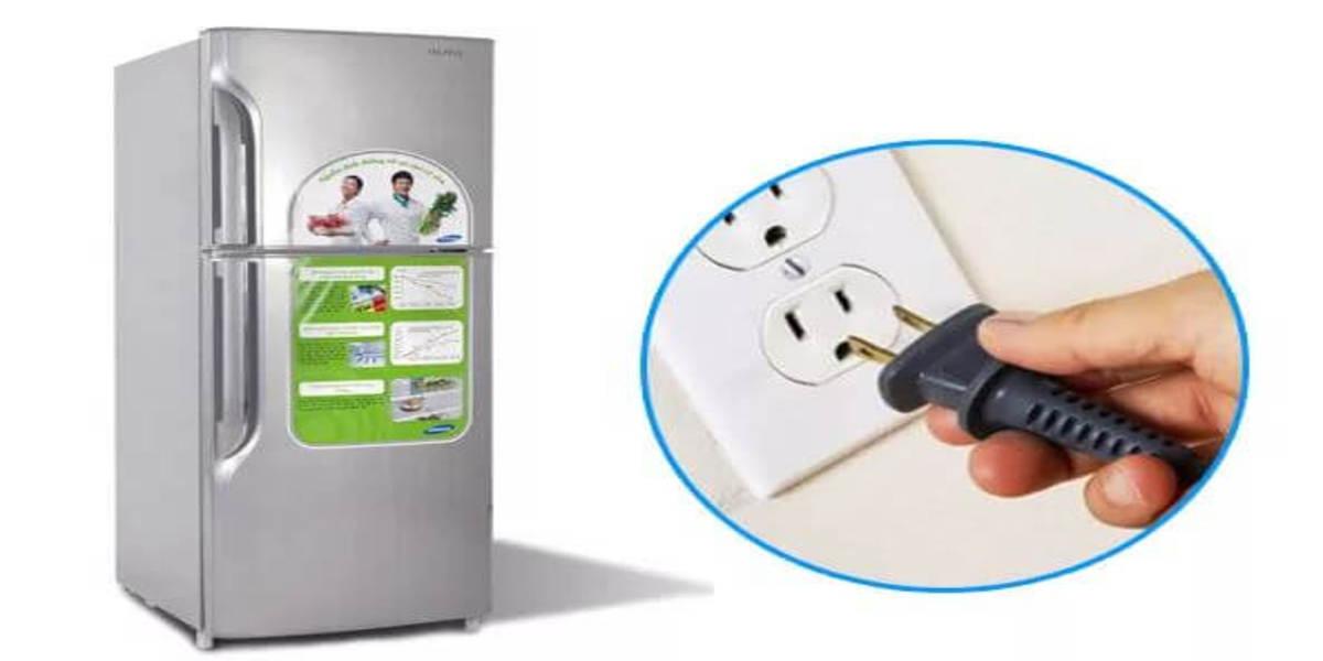 có nên rút điện tủ lạnh