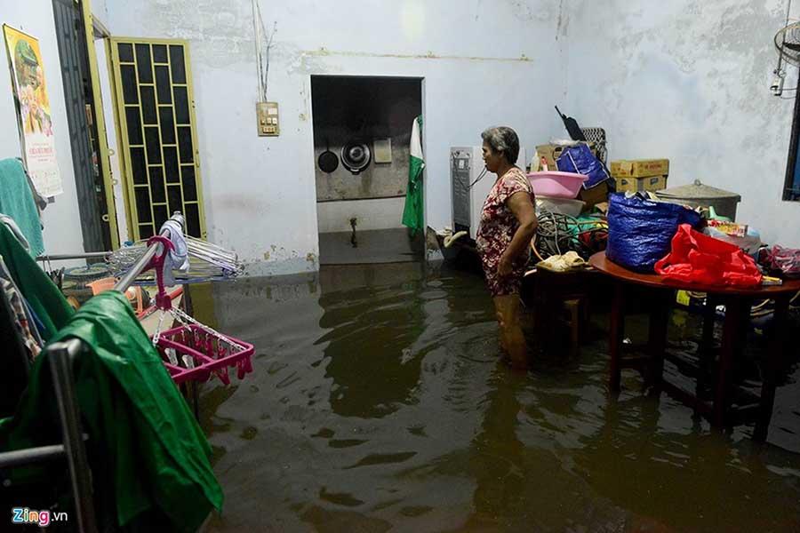 Hậu quả nước tràn vào nhà