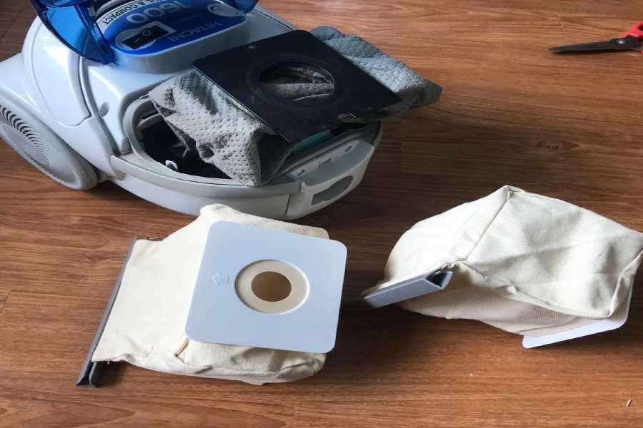 Kiểm tra tình trạng túi chứa bụi