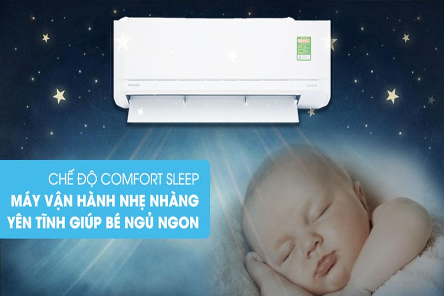 Chế độ Comfort Sleep điều hòa Toshiba