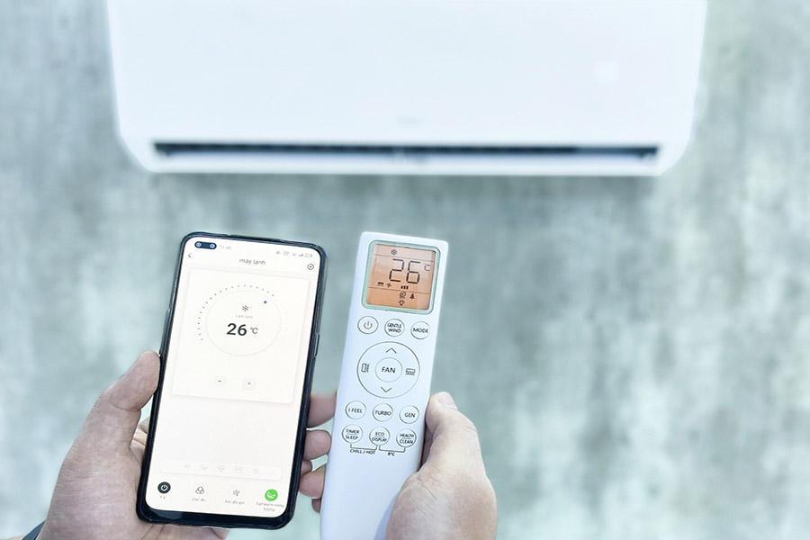 Điều khiển máy lạnh bằng điện thoại