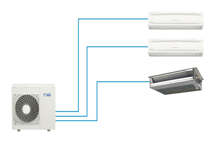 Máy lạnh multi kết hợp nhiều dàn lạnh