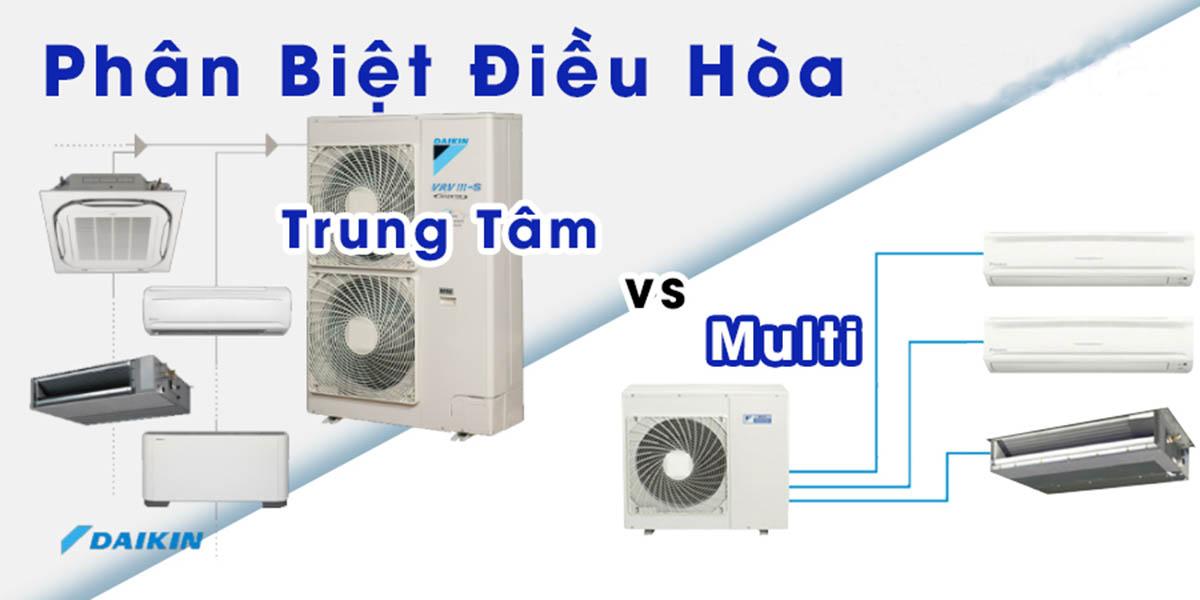 Phân biệt máy lạnh trung tâm và máy lạnh multi