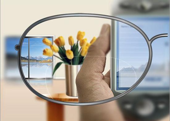 Cách hoạt động của kính 2 tròng, kính cho người già, 1 tròng nhìn gần ở phía dưới và tròng còn lại nhìn khoảng cách xa