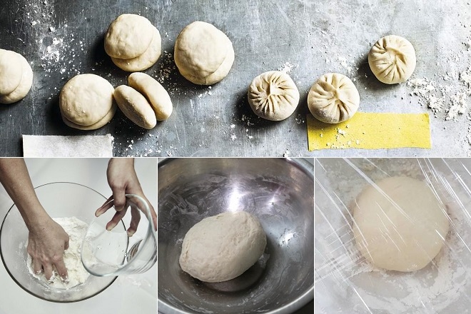 Nhào bột bánh bao
