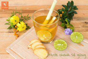 công thức nấu nước chanh sả gừng giúp tăng sức đề kháng