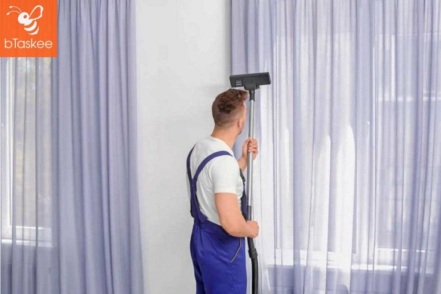 Dịch vụ giặt rèm cửa bTaskee