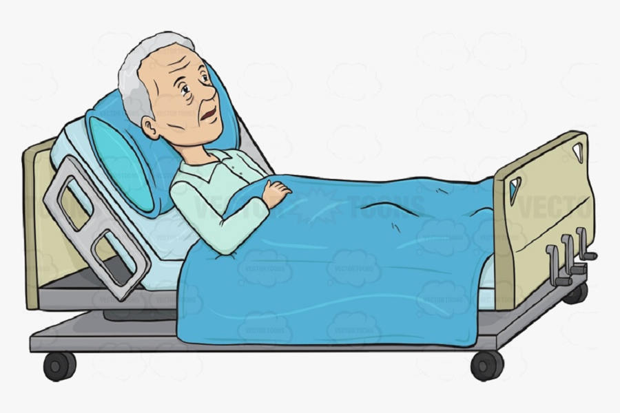 Giường gấp xếp có nệm với chức năng nâng đầu, chân giường được lắp bánh xe